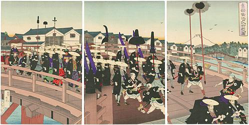旧諸侯江戸入行列之図 / 吟光(銀光)