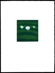 三匹の蝶(緑) / 浜口陽三
