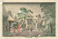 東京名所図 梅若神社  / 清親