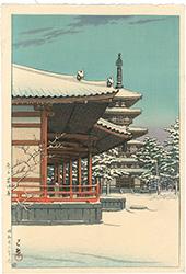 奈良 薬師寺 / 川瀬巴水