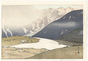 日本アルプス十二題 立山別山 / 吉田博