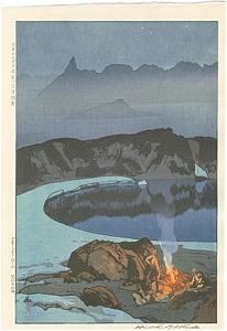 日本アルプス十二題 鷲羽岳の野営 / 吉田博