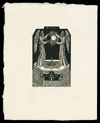 日蝕の予兆或は月と太陽の婚姻 / 柄澤齊