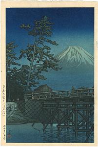 月夜乃富士(河合橋) / 川瀬巴水