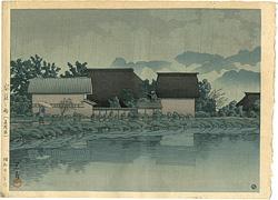 安庭之雨(長野県) / 川瀬巴水