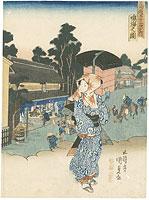 東海道五十三次之内 鳴海の図 / 国貞初代