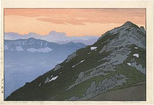 夕の燕岳 / 吉田遠志