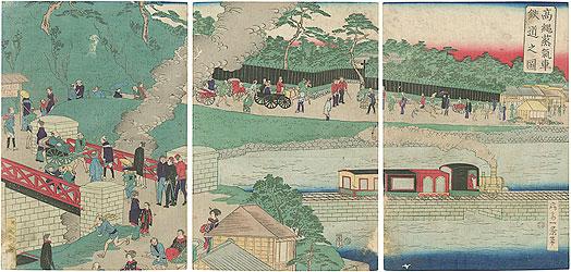 高縄蒸気車鉄道之図 / 一景