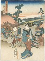 東海道五十三次之内 桑名之図 / 国貞初代