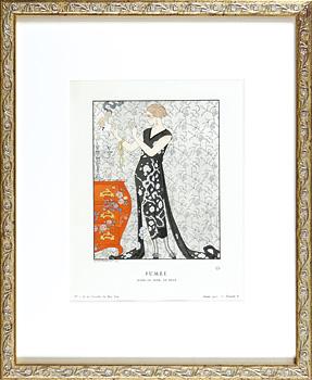 煙 ベールのイブニング・ドレス / ジョルジュ・バルビエ