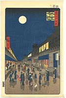 名所江戸百景 猿若町夜景【復刻版】 / 広重初代
