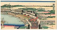 先帝御入京高輪通脚の図【復刻版】 / 広重三代