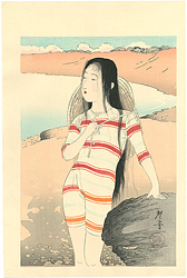 美人の海水浴【復刻版】 / 寺崎広業