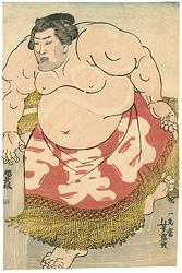 相撲絵 白真弓 / 芳盛