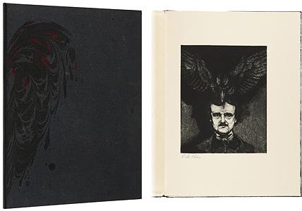 [英]大鴉 / 詩:エドガー・アラン・ポー(Edgar Allan Poe) 版画:アラン・ジェームス・ロビンソン(Alan James Robinson)
