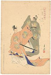 日本花図絵 春庭花 舞楽 / 月耕