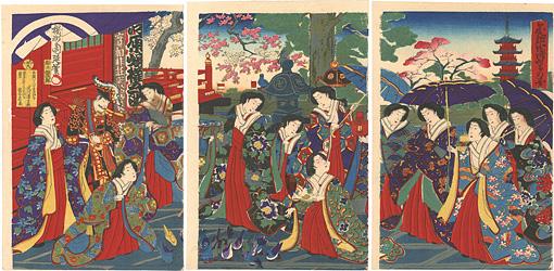 金龍山浅草寺の図 / 周延
