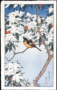 積雪の葉かげに / 吉田遠志