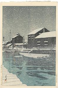 木場の雪 / 川瀬巴水