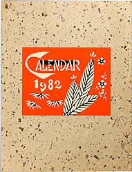 型染カレンダー 1982 / 芹沢銈介