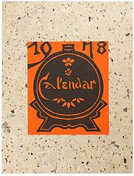 型染カレンダー 1978 / 芹沢銈介