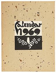 型染カレンダー 1969 / 芹沢銈介
