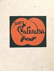 型染カレンダー 1991 / 芹沢銈介
