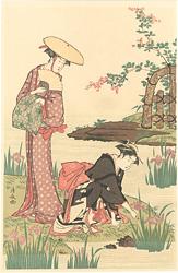 菖蒲の池【復刻版】※右図 / 清長