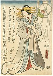 三代目尾上菊五郎 死絵 / 豊国三代