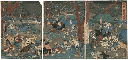 伊賀上野敵討の図 / 国郷