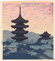 京の夕景 / 徳力富吉郎