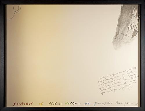 ヘレン・ケラーかヨーゼフ・ボイスの肖像 / 荒川修作