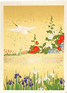 四季花鳥図屏風 / 酒井抱一