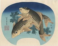 鯉【復刻版】 / 北斎