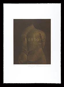 広すぎる背中(銅版画集『クラシコ・トルソー』より) / 池田満寿夫