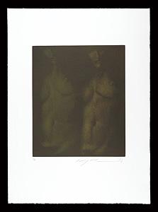 闇のなかの昼と夜(銅版画集『クラシコ・トルソー』より) / 池田満寿夫