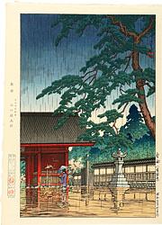 春雨(護国寺) / 川瀬巴水