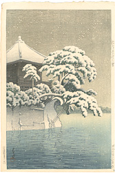 松嶋五大堂の雪 / 川瀬巴水