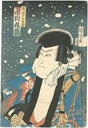 花吹雪強勢乃俳優 張飛の五郎蔵 市川九蔵 / 国周
