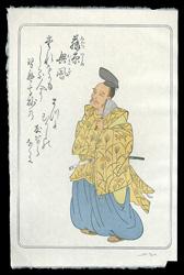 百人一首版画シリーズ 藤原興風 / デービッド・ブル