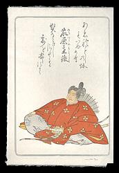 百人一首版画シリーズ 藤原基俊 / デービッド・ブル