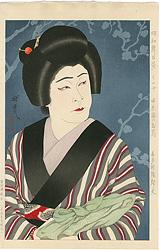 昭和舞台姿 その十 婦系図のお蔦(喜多村緑郎丈) / 太田雅光