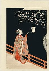 夜の梅【復刻版】 / 春信