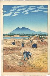 とりいれ(筑波山) / 笠松紫浪
