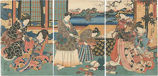春色家賀多の寿 / 豊国三代