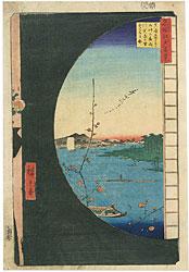 名所江戸百景 真崎辺より水神の森内川関屋の里を見る図 / 広重初代