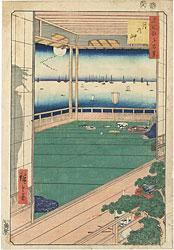 名所江戸百景 月の岬 / 広重初代