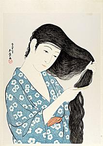 髪梳ける女【復刻版】 / 橋口五葉
