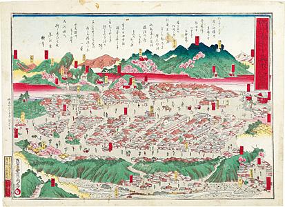 信州湯田中温泉之略図 / 周春