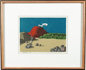 浅間山 / 畦地梅太郎